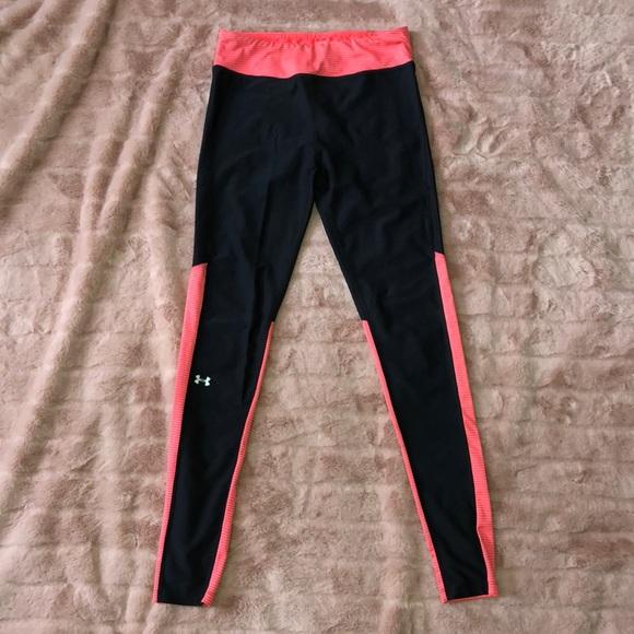 best cheap online sale details for Orange and black under armor leggings